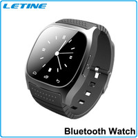 Wholesale 2015 Bluetooth M26 Smart Watch With LED Display Sports Watch Touch Screen Smartwatch WristWatch For iPhone IOS Samsung Android Phone