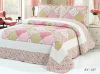 Wholesale piece Cotton Bed Sheet Summer Quilt Twin Size Over colors