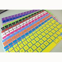silicone keyboard cover - Keyboard Covers Soft Candy Color Silicone Keyboard Cover For Latest Macbook Waterproof Protector Cover Skin BF