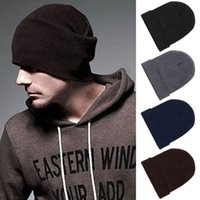 Wholesale Hot Sales Mens Ladies Slouch Beanie Knitted Oversize Beanie Hat Caps ax40
