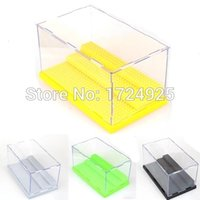 Black acrylic plastic blocks - Five Color To Choose Acrylic Display Case Display Box Minifigures cm For Building Blocks Super Heroes Avengers figures
