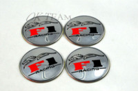 Wholesale 4X Car Accessories Ornament Wheel Center RACING F1 Hub Cap Stickers mm SILVER emblems M3675 accessories lg