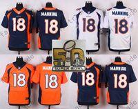 football jersey blank - Denver Brons Peyton Manning Emmanuel Sanders Von Miller Men Womens Kids Blank White Blue orange Super Bowl Patch Jerseys
