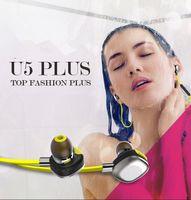 Cheap MORUL U5 Plus Intelligent Bluetooth 4.1 earphone Music wireless Sports Headphone HIFI with microphone NFC for mobile phone MP3 MP4 50pcs up