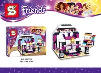 best show cars - Friends Pop Star Recording Studio LIMO Livi Olivia Car Party Show Stage Dressing Room Building set toys Best Gift for children