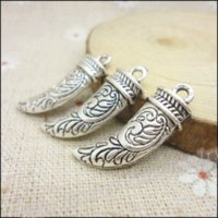 antique ivory necklace - 70 Vintage Charms Ivory Pendant Antique silver Fit Bracelets Necklace DIY Metal Jewelry Making jewelry process