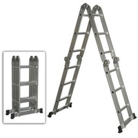 Wholesale Multi Purpose Aluminum Ladder Folding Step Ladder Scaffold Extendable Heavy Duty