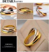 925 de plata anillos de 3 en 1 de las mujeres del anillo anillos de moda