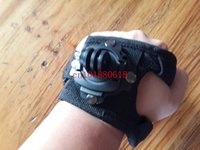 Wholesale Big Small Rotated Glove Wrist Hand Band Strap Shell Mount For GoPro Hero Sport Camera