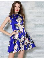 Wholesale 2016 news style summer beautiful dress street style printing flowers style dresses summer beautiful dresse
