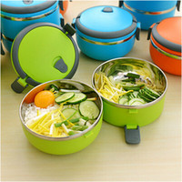 Cheap 700ml Stainless Steel bento Lunch Box with handle Portable thermo Insulation lunchbox food container for kids
