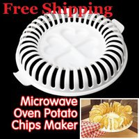 Wholesale DIY Low Calories Microwave Oven Fat Free Potato Chips Maker Home New No Shipping Fee K5BO