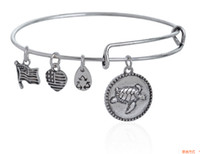african turtles - 24pcs turtle silver Vintage gold colors Hope Love Charm Bracelet Expandable Women Bangles Alex Ani Style jewelry for women hot sale bangle