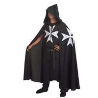 adult medieval knight costume - Medieval Warrior Larp Cosplay Costume Knights OF ST JOHN Tunic CAPE Cloak Robe for Adult Men Gifts