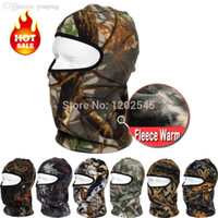 balaclava camo - Warm Camo Thermal Fleece Balaclava Winter Cycling Ski Neck Masks Hoods Cover Hats Bicycle Motorcycle Tactical Full Face Masks