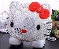 Wholesale Cartoon Cooling Summer Table Fan Cartoon Kitty Desk Fan Dormitory Office Bedroom Fan Mini Fan F