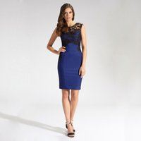 embroidery work - Women Sexy spring Trendy Embroidery Short Evening dark blue Party Career Pencil Bodycon Knee Length Plus Size Club Work Dresses YY070