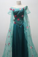 Wholesale 2015 Movie Frozen Hot Princess Elsa snow queen cosplay costume Dress Adult NEW