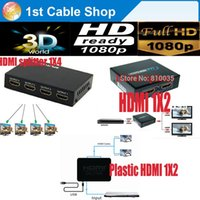 Wholesale HDMI splitter X4 HDMI splitter X2 Distribuidor Hdmi full HD1080P supported with power supply