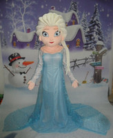 Wholesale Hot Sale Cartoon Character Princess Elsa Dress from Hot Movie Elsa Mascot Costume Theme