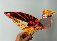 airplane wing parts - Pre assembled Birds toys Flapping Wing Aircraft For The Assembled model airplanes Children Toys Flying Kite Paper Airplane Y50332
