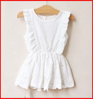 white lace skirt - Girls Summer White Dresses Children Wear Jumper Skirt Kids Embroidered Lace Dresses Fashion Princess Dress Girls Cute Dresses Child Clothes