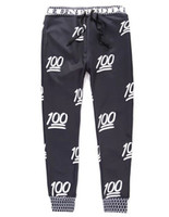 harem pants men - 2015 Newest Fashion Emoji Jogger Men Pants Sport Black Jogging Cartoon Pants Mens Harem Sweatpants Trousers jordan joggers