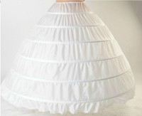 hoop skirts - 2015 Ball Gown Petticoat Layes White Crinoline Underskirt Bridal Petticoats Wedding Dress Slip Hoop Skirt Crinoline For Quinceanera Dress