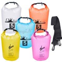 Wholesale 5L Outdoor PVC Waterproof Bag Storage Dry Bag Boating Kayaking Fishing Rafting Bag Swimming Floating Camping Kit LX004AQ P