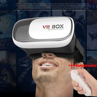 Wholesale 2016 Google Cardboard VR BOX Version VR Virtual Reality D Glasses Bluetooth Remote Control Gamepad D Movie for quot quot Smartphone