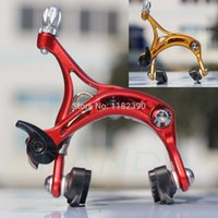 Wholesale Ultralight NEW COLD FORGED ALUMINUM DUAL PIVOT BICYCLE BRAKE CALIPER FOR ROAD BIKE WITH QUICK RELEASE ANODIZED RED GOLD