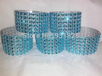 baby shower napkins - Turquoise Napkin Rings Bling Crystal RhinestoneParty Wedding Event Napkin Ring Birthday bridal baby Shower personalized color