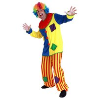 amazing performances - Halloween Christmas Adult Man Clown Costume Funny Dress Adults Clown Cosplay Jumpsuits New Year Performance Wear Amazing Funny Birthday