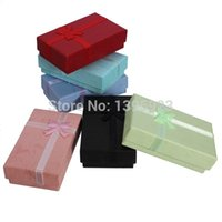 Wholesale Fashion Jewelry Box Multi Colors Rings Case Earrings Pendant Cases Display Packaging Gift Box