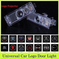 bmw logo - 2pcs LED Car Door Light For Dodge BMW Jeep VW Cruze Logo Laser Emblem Badge Projector Courtesy Welcome Laser Auto Decoration Ghost Shadow