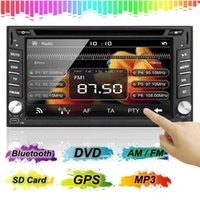 Wholesale car dvd SEND SAL New Double DIN Car Stereo DVD Player Bluetooth GPS Navigation HD TV Camera order lt no track