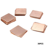 Wholesale 30Pcs Heatsink Copper Shim Thermal Pads for Laptop GPU CPU VGA MD047 order lt no tracking