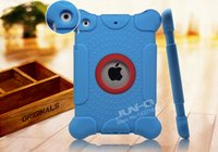 Wholesale JUN Q Brand Silicone case for iPad2 Kids Fun Play Armor Series Smart Cover Shockproof inch tablet Cases Children use iPad skin