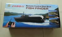 Wholesale Newest JABO BL Remote Control Bait Boat Sonar Fish Finder and Upgrade Lipo Battery DHL Free Delivery
