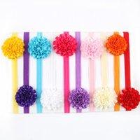 christmas flower pick - Retail Baby Infant handmade Flower Headbands toddler christmas headwear girls hair accessories color pick