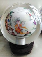 beauty gift boxes - New arrival hand made crystal ball inside Twelve Beauties of Jinling painting artwork glass globe terrarium with collection value