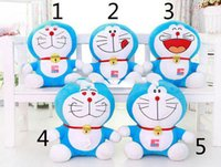 Wholesale 5pcs Soft Stuffed Toys Doraemon cm cm Plush toys Dolls For Gifts WG5566