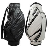 Wholesale 1pc New Tay PU golf bags black white top quality Men standerd golf bag EMS ship