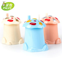 Wholesale Creative cartoon mushroom toothpick Holder Bottle Box automatic Cute Design Plastic household Hot sale and