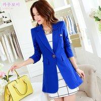 Cheap Brand New Spring Autumn Fashion Women's One Button Slim Casual Business Blazer Suit Jacket OL Slim Coat Outwear