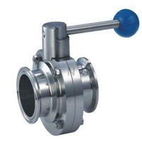 Wholesale Sanitary TriClamp Butterfly Valve size quot quot quot SS304 TC Clamp