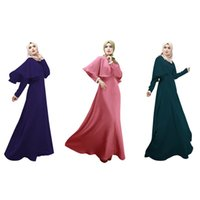 festival clothing - Newest Women Kaftan Abaya Jilbab Islamic Muslim Style Ethnic Women Long Sleeve Elegant Maxi Dress Festival clothing