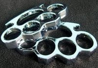 Wholesale Hot SalesTHICK mm STEEL BRASS KNUCKLE DUSTER color Gold plating silver
