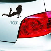 sexy cartoon girl - lowest hot sale stickers for Cars Vinyl Decals Devil Angel Applique sexy girl Personalized Waterproof Sticker Decoration Car