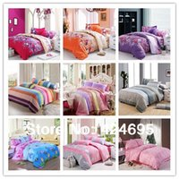 Wholesale Home textile Reactive Print bedding sets luxury include Duvet Cover Bed sheet Pillowcase King Queen Full size tiggou2